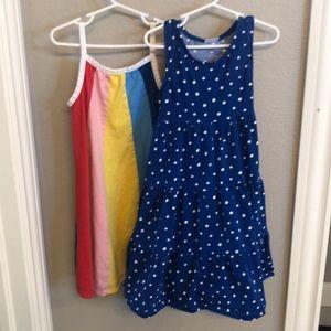 Hanna Andersson sz 120 bundle. 2 tank dresses.